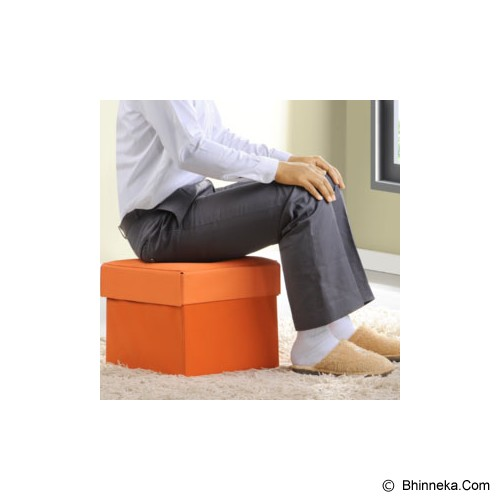 FUNIKA Cube Storage Stool [10060R1] - Orange - Container